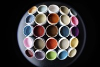 Color Cups & Tape 18 Framed Print