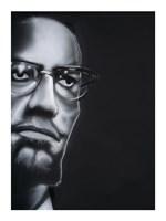 Portrait of Malcolm X Fine Art Print