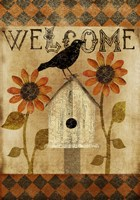 Fall Welcome Flag Framed Print