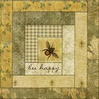 Bee Happy Quilt Fine Art Print
