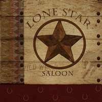 Lone Star Saloon Framed Print
