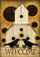 Welcome Fall Bird House Fine Art Print