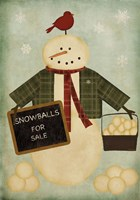 Holiday Snowballs Fine Art Print