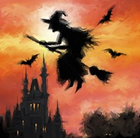 Halloween Witch Fine Art Print