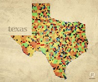 Texas County Map Fine Art Print