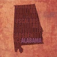 Alabama State Words Fine Art Print