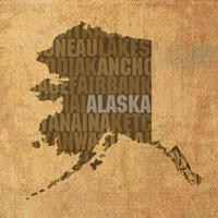 Alaska State Words Fine Art Print