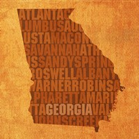 Georgia State Words Fine Art Print