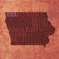 Iowa State Words Fine Art Print