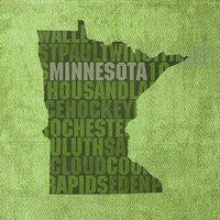 Minnesota State Words Fine Art Print