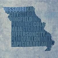 Missouri State Words Fine Art Print
