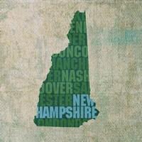 New Hampshire State Words Fine Art Print