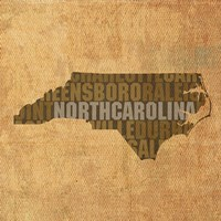 North Carolina State Words Fine Art Print