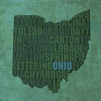 Ohio State Words Fine Art Print