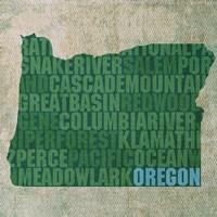 Oregon State Words Fine Art Print