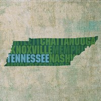Tennessee State Words Fine Art Print