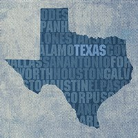 Texas State Words Fine Art Print