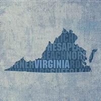 Virginia State Words Fine Art Print