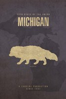 Michigan Poster Framed Print