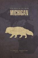 Michigan Poster Framed Print