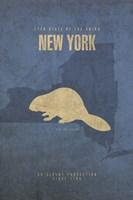 New York Poster Framed Print