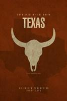 Texas Poster Fine Art Print