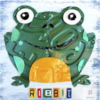Ribbit The Frog Framed Print