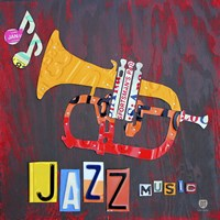 License Plate Art Jazz Series Piano II Framed Print