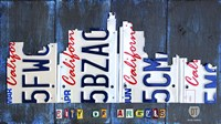 Los Angeles Skyline License Plate Art Fine Art Print