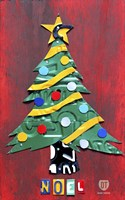 Noel Christmas Tree License Plate Art Fine Art Print