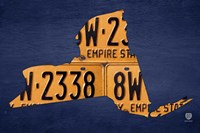 New York License Plate Map Fine Art Print