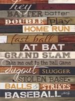 Hey Batter Batter Framed Print