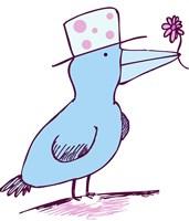 Flower Bird Fine Art Print