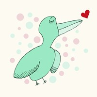 Dreamy Love Bird Fine Art Print