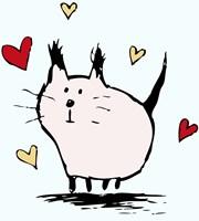 Little Pink Cat Fine Art Print