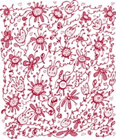 Playful Pink Flowers Fine Art Print