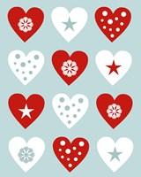 Christmas Hearts Fine Art Print