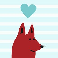 Happy Red Dog Love Fine Art Print