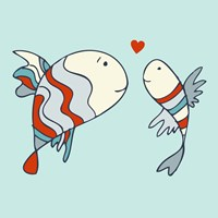 Two Little Love Fish Fine Art Print