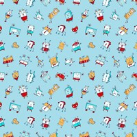 Little Robots Pattern Fine Art Print