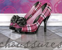 Plaid Heels Fine Art Print