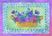 Pansy Basket Fine Art Print