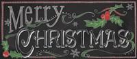 Chalk Merry Framed Print