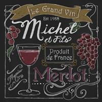 Wine Chalkboard I Fine Art Print
