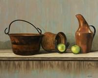 Rustic Cooking Pots Fine Art Print