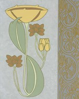 Tan Tulip With Right Border Framed Print