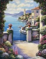 Mediterranian Patio Fine Art Print