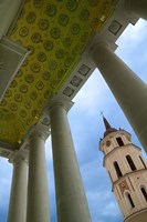 Bell Tower of the Cathedral, Vilnius, Lithuania Fine Art Print