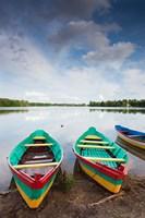 Lake Luka, Trakai Historical National Park, Trakai, Lithuania Fine Art Print
