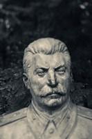 Lithuania, Grutas Park, Statue Joseph Stalin I Fine Art Print